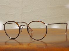 Vintage eyewear Savile row panto frame 14k white gold filled made in England