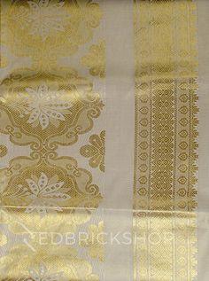 KASAVU FLORAL GOLD COTTON SAREE