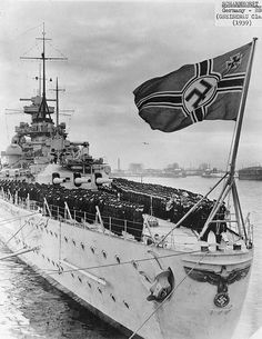 Ceremony on Scharnhorst's afterdeck, circa early 1939