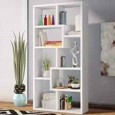 Wrought Studio Skaggs Geometric Bookcase
