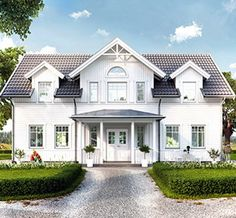 1 3/4-plan New England Hus, Swedish House, Dream House Exterior, House Extensions, Scandinavian Home, White Houses, House Goals, Exterior Design, Future House