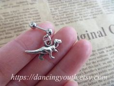 Hey, I found this really awesome Etsy listing at https://www.etsy.com/listing/178041714/dinosaur-tragus-earring-jewelry-barbell