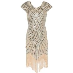Womens 1920s Art Deco Diamond Paisley Sequined Embellished Fringed Flapper Tassel Glam Party Dress: Amazon.co.uk: Clothing