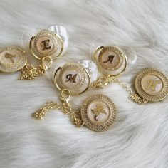 Initial Pearl Pacifier & Clip Set Avaliable in Transparent and White MAdd with NuK Style Pacifer