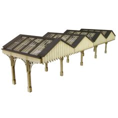 N Scale Railway Kits - Platform Canopy - Railway Models & Toys from Metcalfe - Ready Cut Card Kits