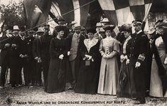 Grand Duchess Elena Vladimirovna Romanova of Russia among the Greek and Prussian royal families at Corfu.