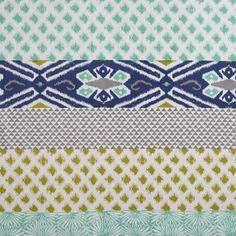 Blue and Green Daelynn Shower Curtain | World Market