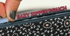 Easy Fat Quarter Zipper Pouch