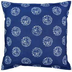 Indigo Dot Dot Dot Pillow, 24 x 24 in