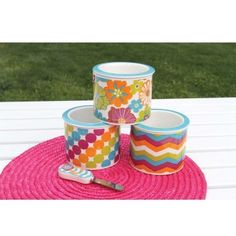 Neon Printed Dip Chillers, Set of 3 http://decadentdecor.athome.com/60060477-neon-printed-dip-chillers-set-of-3.html