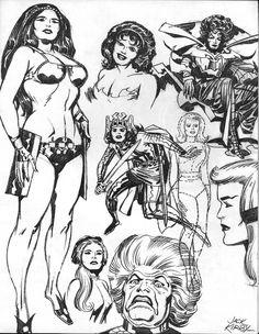New Gods Big Barda, Granny Goodness, Beautiful Dreamer; Inhumans Crystal; Fantastic Four Sue Storm Richards; Ladies of Jack Kirby (Unleashed) Portfolio 1971