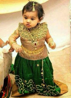 Baby in Green Pearls Work Skirt