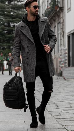 The best 5 winter outfits with long coats - .- Die besten 5 Winter-Outfits mit langen Mänteln – … The best 5 winter outfits with long coats – # coats - Mode Masculine, Stylish Men, Men Casual, Stylish Outfits, Outfits 2016, Rock Outfits, Langer Mantel, Elegantes Outfit, Hipster Man