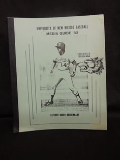 1982 UNM University of New Mexico Lobo's Media Yearbook Guide Baseball NCAA