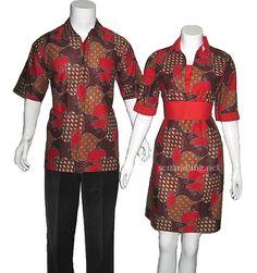 batik sarimbit couple modern merah murah e6ea746bff
