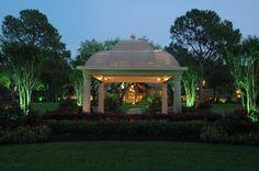 Illuminating the gazebo Gazebo, Yard, Outdoor Structures, Lighting, Kiosk, Light Fixtures, Pavilion, Garten, Lightning