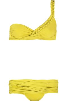 teja one shoulder yellow bikini - LA PERLA    interesting..