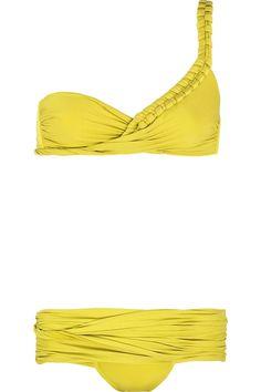teja one shoulder yellow bikini - LA PERLA--would look horrible on me, but I love it. :0