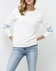 Foil Sweater  | White Canvas