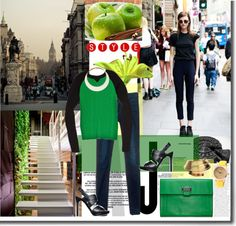 """""""put some green in your style"""" by silda ❤ liked on Polyvore"""