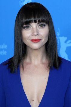 Christina Ricci Medium Straight Cut with Bangs