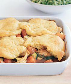 Turkey Potpie With Biscuit Crust