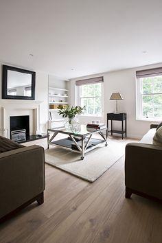 PEEK Architecture + Design. Brompton Square, London. Living Room, timber floor