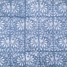 Indian patterns - block print floral - Quilted Cotton Eiderdown - Single Bedspread - Kasakosa Home Decor