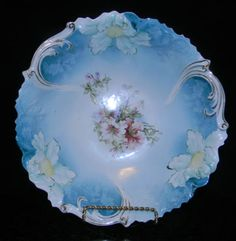 1906 RS Prussia Unger Shilde Factory Alte Saxenburg Floral Bowl Steeple Mold 3   eBay