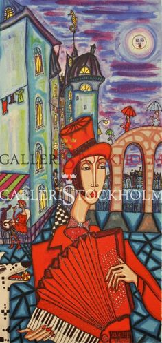 Litografi - Angelica Wiik - Franska nätter Beställ här! Klicka på bilden.