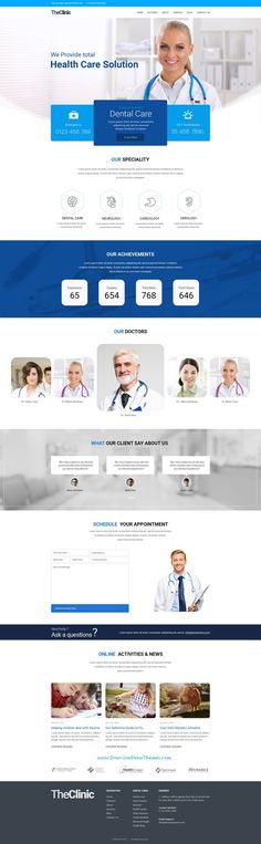 TheClinic is clean and modern design PSD template for #clinic and #hospital website to live preview & download click on Visit #psdmockups