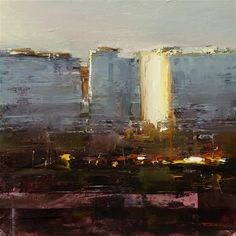 """Daily Paintworks - """"Late Afternoon"""" - Original Fine Art for Sale - © Tibor Nagy Landscape Artwork, Cool Landscapes, Urban Landscape, Abstract Landscape, Abstract Art, Falling Skies, Gallery Website, Fine Art Gallery, Painting Inspiration"""