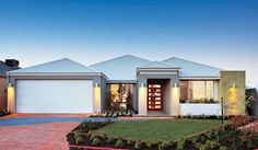 Red ink home designs: the caribbean. Retirement Planning, Early Retirement, Retirement Funny, House Elevation, Display Homes, Western Australia, Exterior Design, Bungalow, Ideal Home