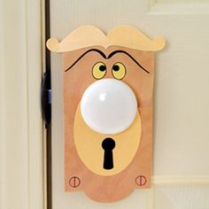 Turn an ordinary doorknob into a talking one.   21 DIY Ways To Make Your Child's Bedroom Magical
