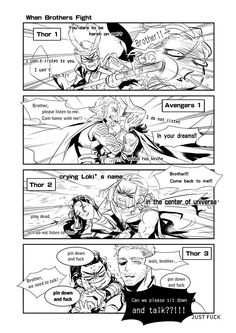 When brothers fight || Thor & Loki || Cr: leslwey
