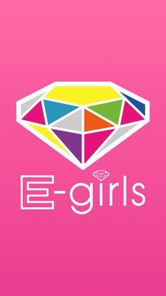 E-girlsのかわいいロゴ