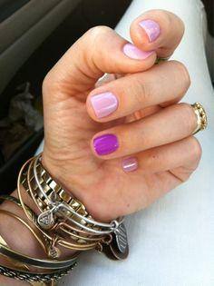 purple nails.
