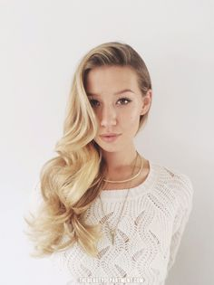 Side Part with Smooth Waves via thebeautydepartment.com