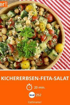 Kichererbsen-Feta-Salat - list of healthy recipes Baked Chicken Recipes, Veggie Recipes, Salad Recipes, Vegetarian Recipes, Healthy Recipes, Drink Recipes, Chickpea Feta Salad, Feta Salat, Proteine Vegan