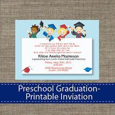 Preschool Invitations Templates Printable Preschool Graduation