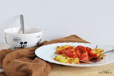 Placki z cukinii i marchewki z sosem pomidorowo-paprykowym Food, Diet, Essen, Meals, Yemek, Eten