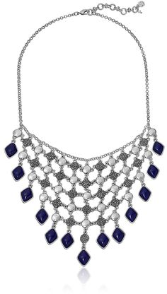 Lucky Brand Lapis Statement Necklace, 17'   2' Extender * Visit the image link more details.