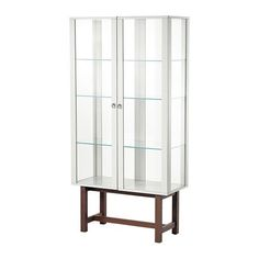 STOCKHOLM Vitrine - beige - IKEA With a different bottom part. Furniture, Glass Door, Cabinet, Ikea, Display Cabinet, Glass Cabinet Doors, Glass, Ikea Stockholm, Display Cabinets Ikea