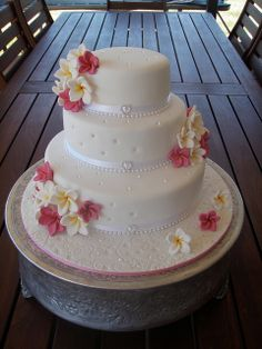 Mossy's masterpiece - Frangipani cake by Mossy's Masterpiece cake/cupcake designs, via Flickr