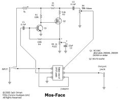 changing resistors for a high gain fuzz face