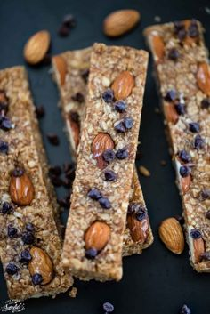 The easiest chewy no-bake 5 ingredient granola bars. Tasty & sweet with almond, peanut or any seed butter. Best of all made with honey & no REFINED sugar.