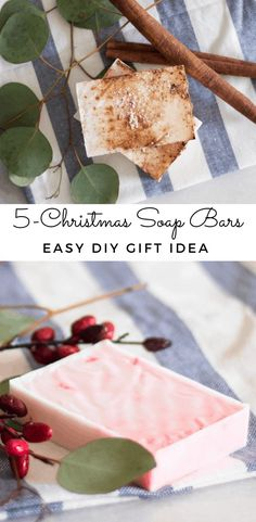 Learn how to make the easiest melt and pour soap bars for Christmas. These Christmas soap recipes will be the perfect homemade gift idea for anyone on your list this year. Each of these soap bars will be made with all-natural ingredients and scented with essential oils making them the perfect soothing soap bar for all skin types. #christmasoap #meltandpoursoap #homemadesoap #diychristmaspresents