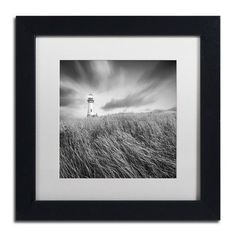 "Trademark Art ""Yaquina Lighthouse III"" by Moises Levy Framed Photographic Print Size: 11"" H x 11"" W x 0.5"" D"