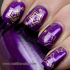 Gold Stars Nail Art Water Transfer Decal Prom by Hailthenails, £1.99