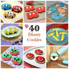 40 Disney Cookie Recipes #Disney @Katie Schmeltzer Schmeltzer Schmeltzer Schmeltzer Sue - how awesome are these?!